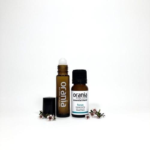 essential oil blend NZ rollon natural perfume focus exam study